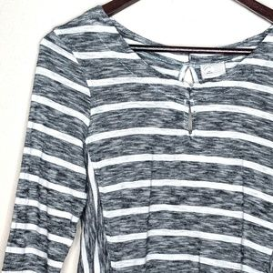 ANTHROPOLOGIE POSTMARK Striped Long Sleeves Blouse